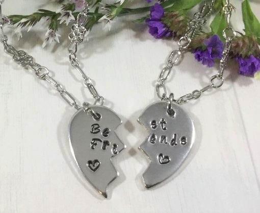 Best Friends Heart Necklace Set