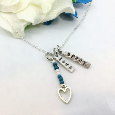 Speak Love Necklace With Beads