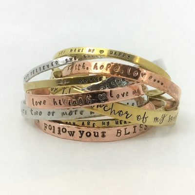 Cuff Bracelets Personalized Words