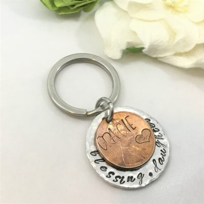 Commemorative Penny Year Keychain