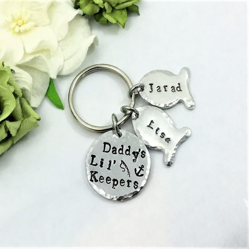 Daddy's Lil' Keepers Keyring