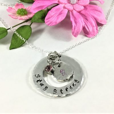 Stay Strong Pink Ribbon Necklace