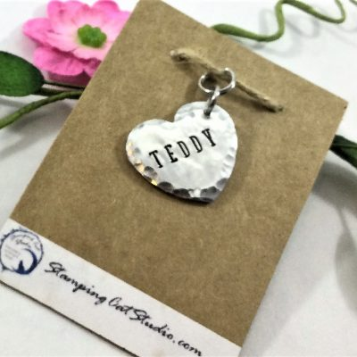 Pet ID Doublesided Tag Heart