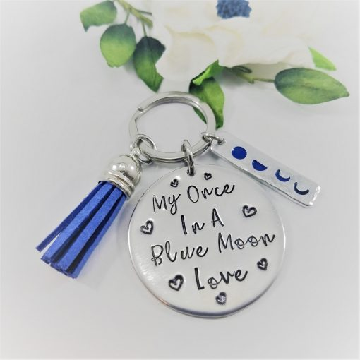 Once in a Blue Moon Love Keychain