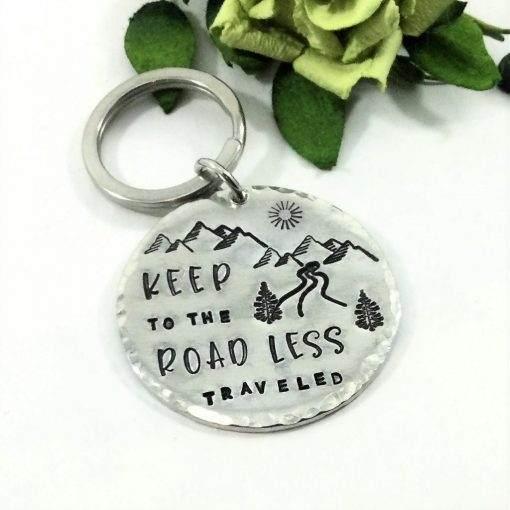 Less Traveled Road Keychain