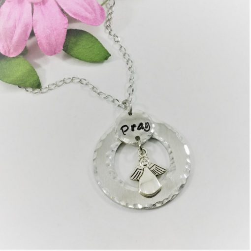 Pray Angel or Cross Necklace