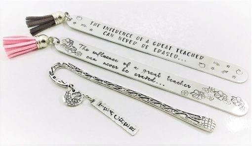 Teacher Appreciation Handstamped Bookmarks