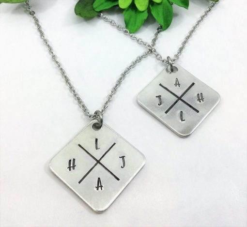 Crossed Paths Monogram Necklace