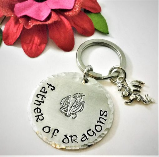 Father Of Dragons Keychain