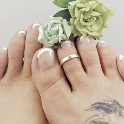 Solid Sterling Silver Toe Ring